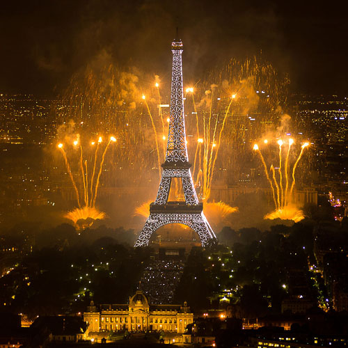 Bastille Day Fireworks at Eiffel Tower
