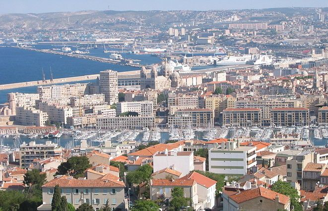 Marseille city and ports