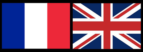 French and UK flags