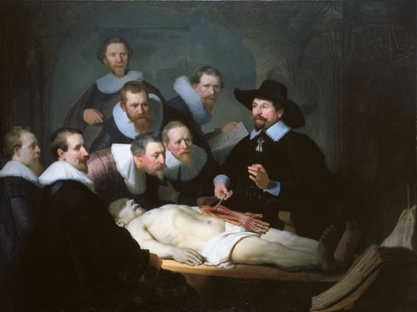 The Anatomy Lesson of Dr Nicolaes Tulp 1632 by Rembrandt van Rijn
