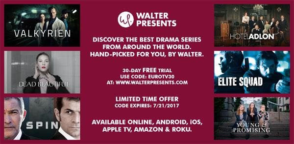 Walter Presents Euro TV Invite